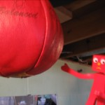 Hitting the speed-bag for hand-eye coordination