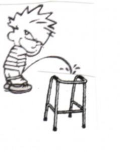 pee on walker