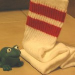 Hop like a frog, you Odd Sock