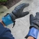 Gloves & wrist weights.
