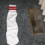 My Odd Sock taking a break from the heat.