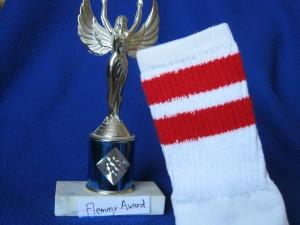The prestigious My Odd Sock Flemmy Award