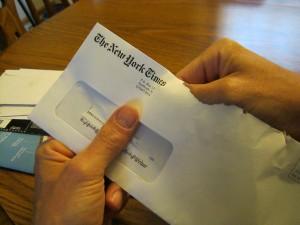 Be careful of paper cuts.