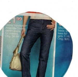 Female jean.  Magnified 200X