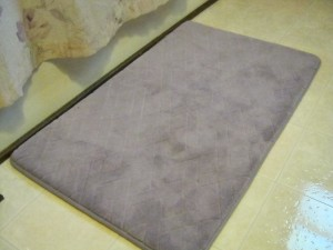 A luxurious Memory Foam bath mat