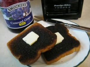 Mmm, toast with jam & butter