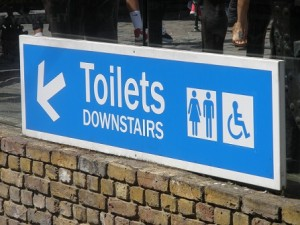 Which way to the loo?