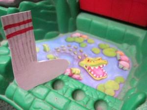 A moat--with aligators!