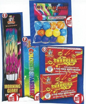 Snappers, Sparklers and Smoke Bombs