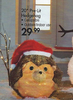 Baby Jesus was wrapped in a furry hedgehog.