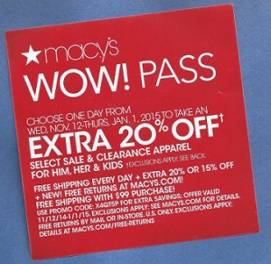 Another Macy's sale.