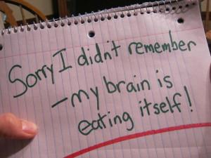 Quit it brain!
