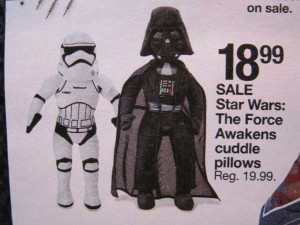 Snuggle up Storm Trooper.